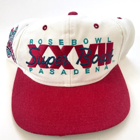 6d3f22812f8 Super Bowl 27 XXVII Vintage SnapBack Hat 1992. M 5b3d993e0cb5aaba63e06a0c